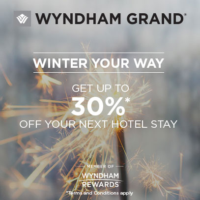 WINTER YOUR WAY   GET UP TO 30%* OFF YOUR NEXT HOTEL STAY